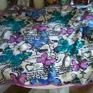 Coach silk scarf butterfly